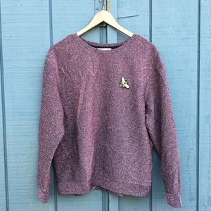 H&M Pull Over Glitter Sweater with Jeweled Bug